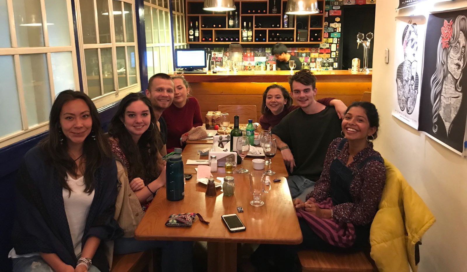 One of the LAFF traditions: goodbye dinner for leaving volunteers. In this case it was our Local Fundraising Coordinator - Anushka (first on the right)