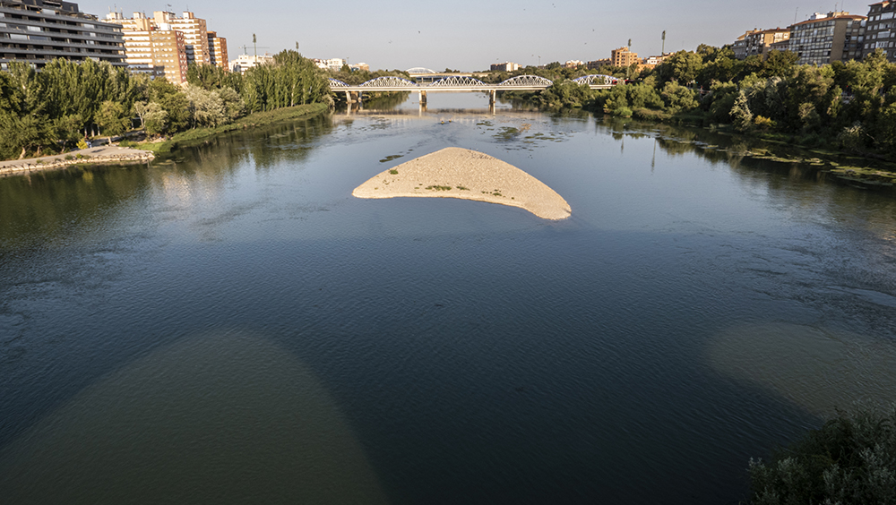South-East view of the river Ebro